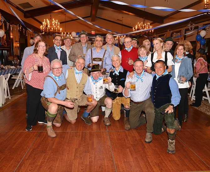 Hosts for the third annual Great Falls Rotary Club Oktoberfest – Board members of the Club and the Rotary Club Foundation.
