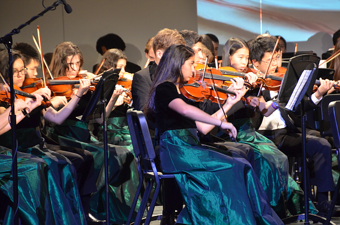 The Langley High School Orchestra will perform Halloween music on Tuesday, Oct. 30.