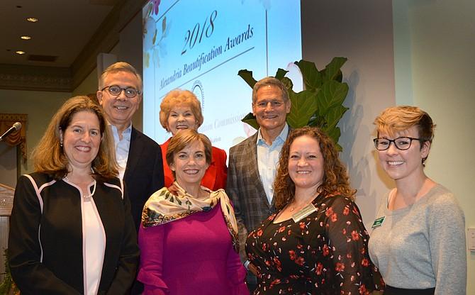 From left: Mayor Allison Silberberg, Councilman Paul C. Smedberg, Councilwoman Del Pepper, Beth Tuttle, Erich Veitenheimer, III, Denise Tennant, and Dana Holmstrand.
