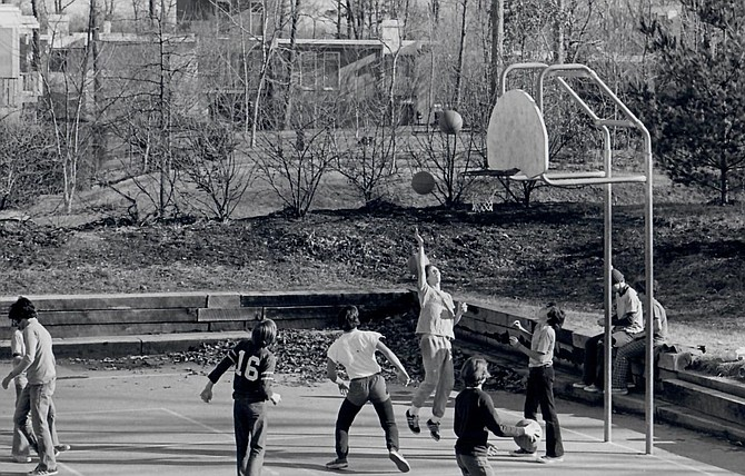 Basketball in the early days of Reston.
