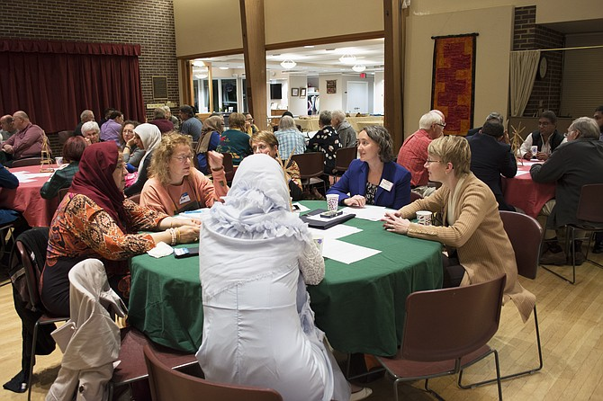 A hundred people gathered at Mount Vernon Unitarian Church on Nov. 3 to discuss gun violence.