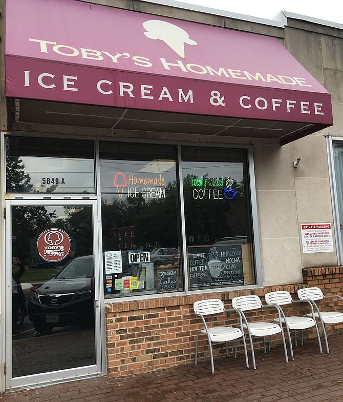 Toby's Handmade Ice Cream and Coffee Shop.