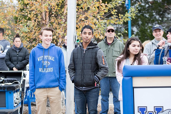 West Potomac High School students participated in the first Operation Legacy Veterans Day of Service Poetry Contest.