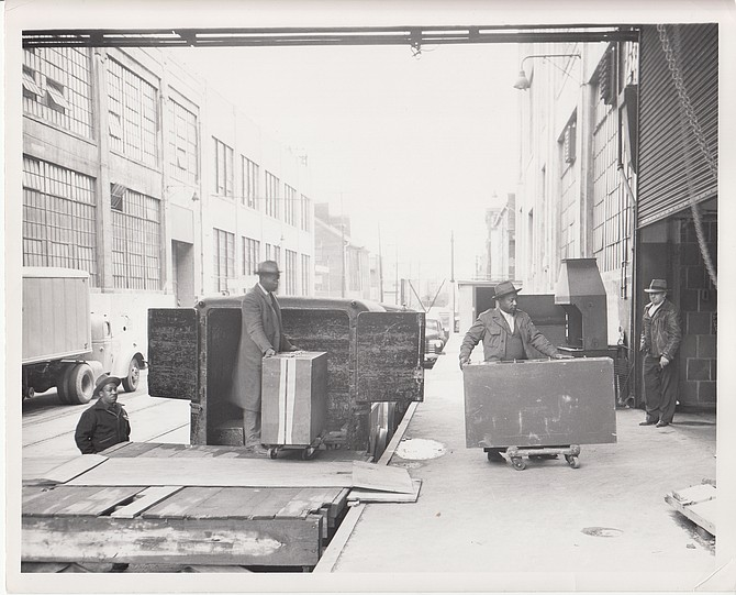 Incoming shipment of Army records in 1950.