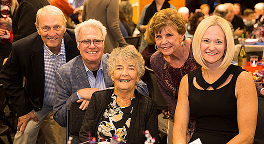 UCM will celebrate its 50th anniversary of service to the community throughout 2019. Honorary 50th Celebration Co-Chair Addy Krizek (center) is joined by (from left): Ken Disselkoen, UCM board chair; Tom Curcio and Elin Bohn, UCM board members and 50th Celebration co-chairs; and Alison DeCourcey, UCM executive director.