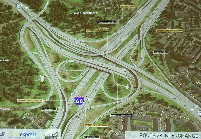 Diagram of the Route 28/I-66 Interchange project.
