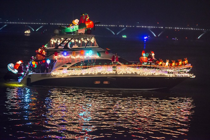 "Kairos, with Captains Michael Bradford and Tipper Williams Bradford, took home the Most Animated prize with ""Kairos Christmas on the Potomac"" at the 19th annual Holiday Boat Parade of Lights Dec. 1 along the Potomac River."