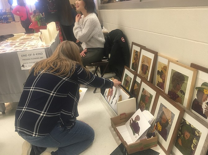 Crafts on display at South County's Holiday Extravaganza.