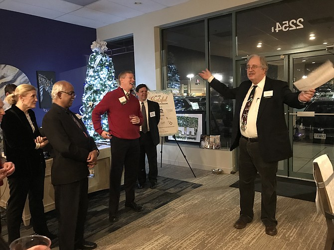 """We are spending money like it's water, and we need some,"" Carl Jenkins told the crowd of attendees at the Thursday evening, Dec. 6 fundraiser for Fellowship Square hosted by Hunters Woods at Trails Edge."