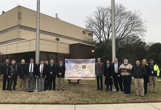 Covanta Fairfax hosted a formal flag retirement ceremony on Dec. 5.