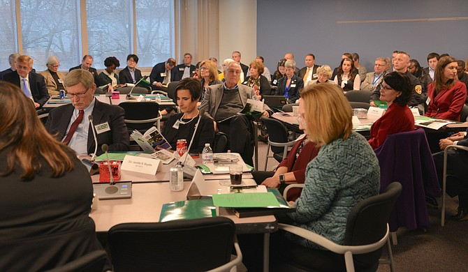State delegates and senators joined the Fairfax County Board of Supervisors, other county staff, and representatives from a number of civic groups for a legislative work session prior to the start of the 2019 General Assembly in January.