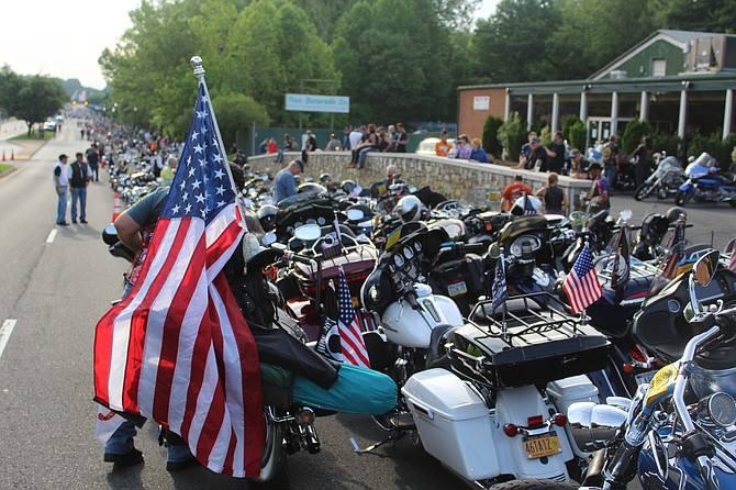 Cycles gather in Fairfax for Rolling Thunder.