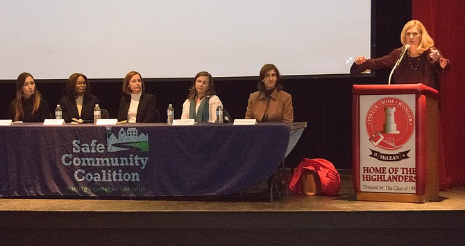 "More than 250 people turned out at McLean High School Dec. 6 to see the film ""Angst: Raising Awareness Around Anxiety"" sponsored by the Safe Community Coalition of McLean. Peggy Fox of WUSA 9 moderated a panel discussion following the film."