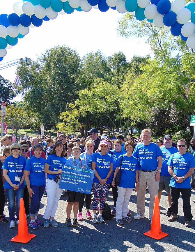 Supervisor John Cook (Braddock) with his team of County leaders who participated in the 11th Annual Fairfax Out of the Darkness Walk held Sept. 29 in Fairfax. In today's Connection, Cook writes about issues facing Braddock District in 2019.