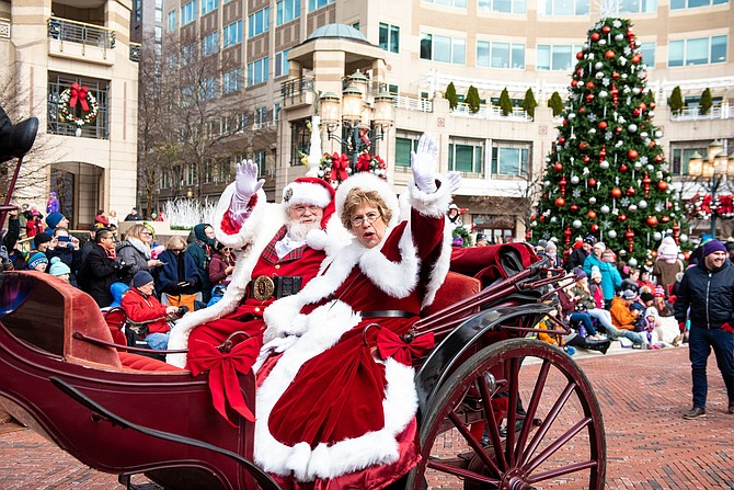 Santa & Mrs. Claus arrive at RTC Holiday Parade 2018 on Friday, Nov. 23.