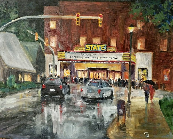 State Theater in the Rain, by  Bob Gilbert
