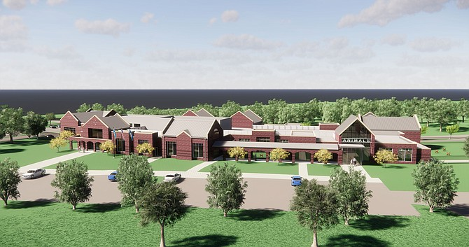 Renderings of South County Police Station & Animal Shelter.