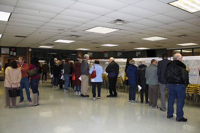 Many were interested in the parkway widening plans.