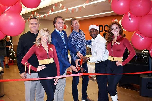 The ribbon was cut by Kirk and John Galiani, co-Chairmen of US Fitness, Paul Harris, the club's General Manager, Brian Smith, Senior Vice President of Operations and the Redskins Ambassadors.
