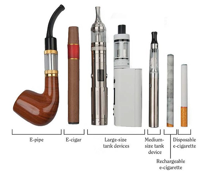 E-cigarettes come in a variety of forms.