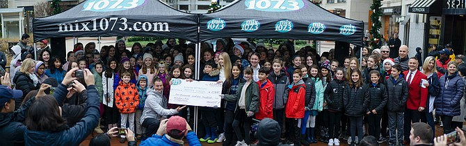 The North Bethesda Middle School Chorus won Mix107.3's 2018 K-8 Holiday Choir Competition last month.