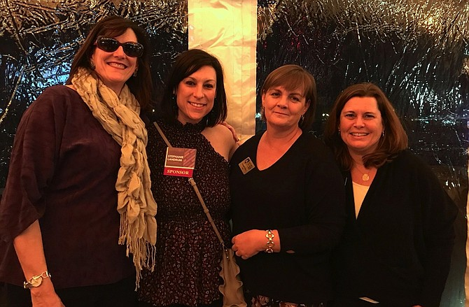 Chamber of Commerce board chair Charlotte Hall, left, with Stephanie Landrum, Elizabeth Moon and Cathy Puskar at the Jan. 11 Chairman's Reception at the Old Dominion Boat Club.