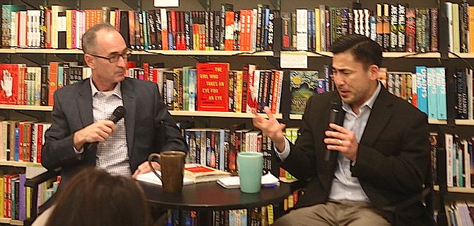 Scott Tong (right) joined in conversation at Politics and Prose by Jason Beaubien, NPR's Global Health and Development correspondent on the Science Desk.