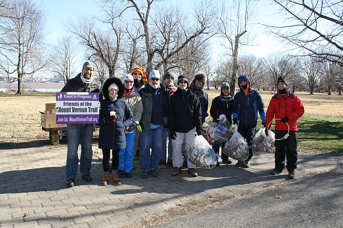 The Friends of Mount Vernon Trail spent MLK day cleaning the trail.