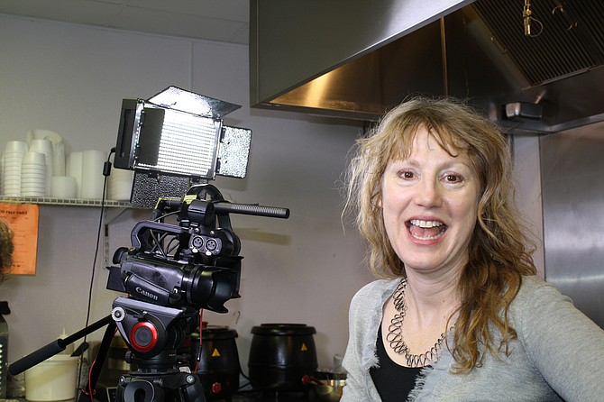 Keri Cannistraro is at home at her video production company in Burke.