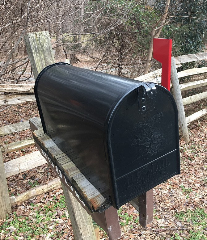 Several homes in Potomac had their outgoing mail stolen.