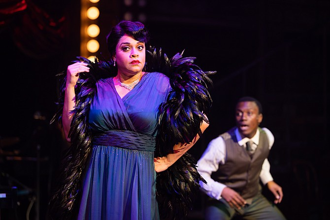 "Iyona Blake and Solomon Parker III in ""Ain't Misbehavin'"" at Signature Theatre."