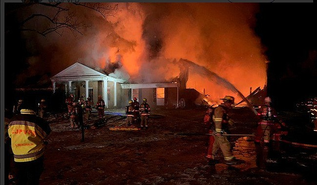 More than 60 firefighters battled the blaze on Chapel Road.