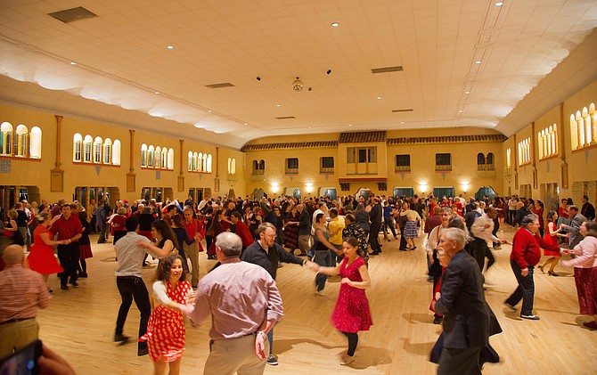 The Valentine's Day Red Dress Ball filled the Spanish Ballroom at the Glen Echo Park on Saturday, Feb. 10.