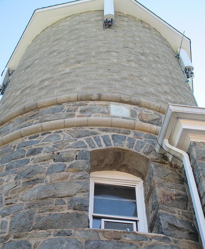 Former water tower of Saegmuller Mansion, 5115 Little Falls Road, Arlington.