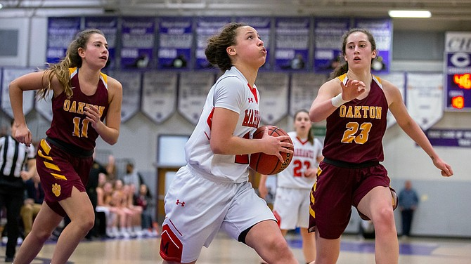 Grace Arnolie #21, scored 17 points to lead Madison to the Concorde District Championship.