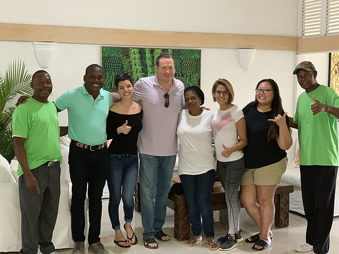 Michella, Dr. Gocke, Alejandra and Julie with the amazing support system in the Dominican Republic.