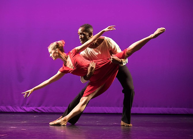 Bowen McCauley Dance Company's Alicia Curtis and Sidney Hampton.