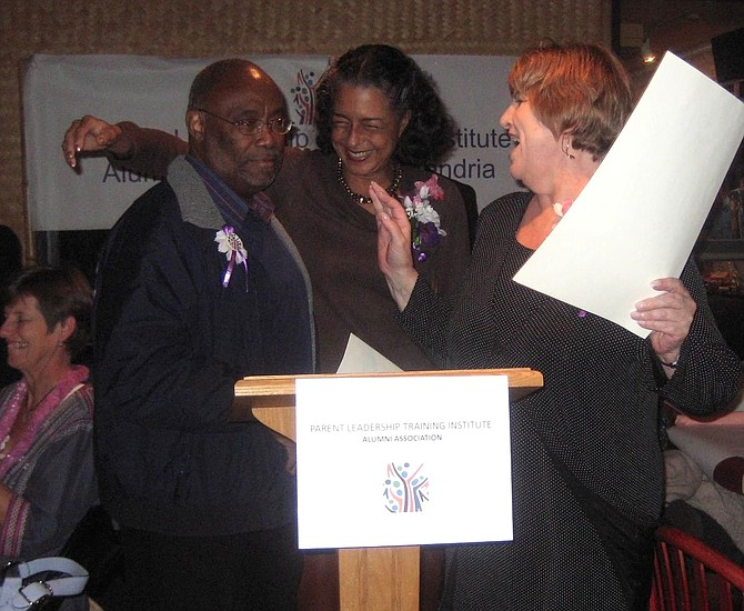 Bill Euille with PLTI co-founders Joyce Woodson and Fay Slotnick at the 2011 PLTI appreciation dinner.