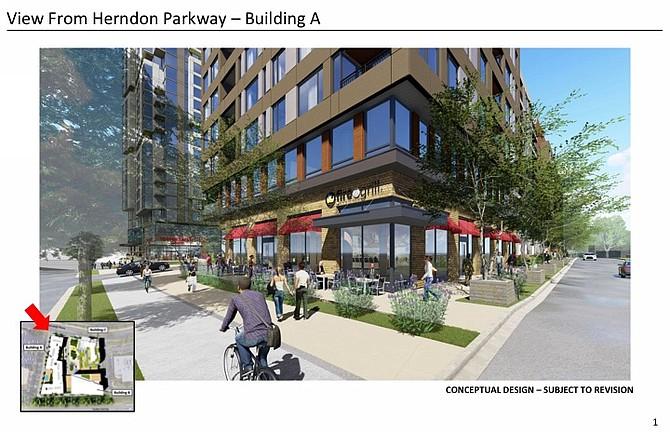 Conceptual Design, 555 Herndon Parkway, Building A.