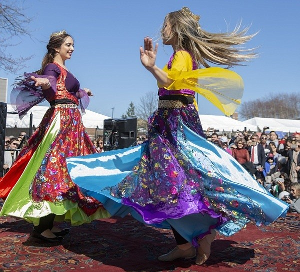 Persian dancers celebrate the Nowruz Festival last year in Tysons Corner Center.