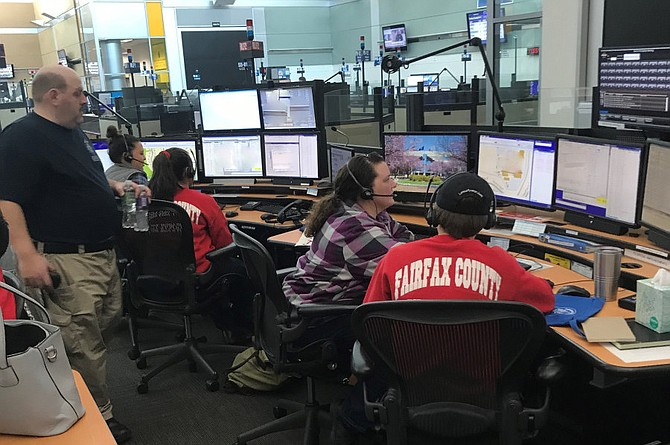 Fire and Rescue Explorers visit the county's 9-1-1 Center.