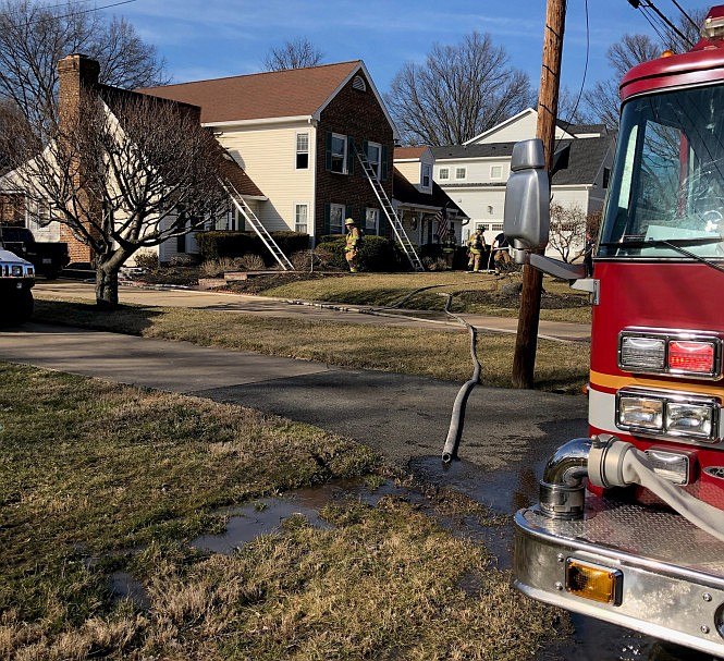 House fire in the 6400 block of Briarmoor Lane in the Franconia area of Fairfax County caused damages of approximately $20,000.