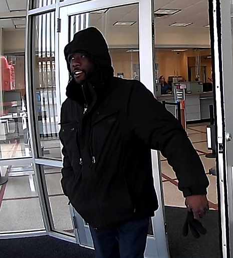 Suspect in March 4 bank robbery.