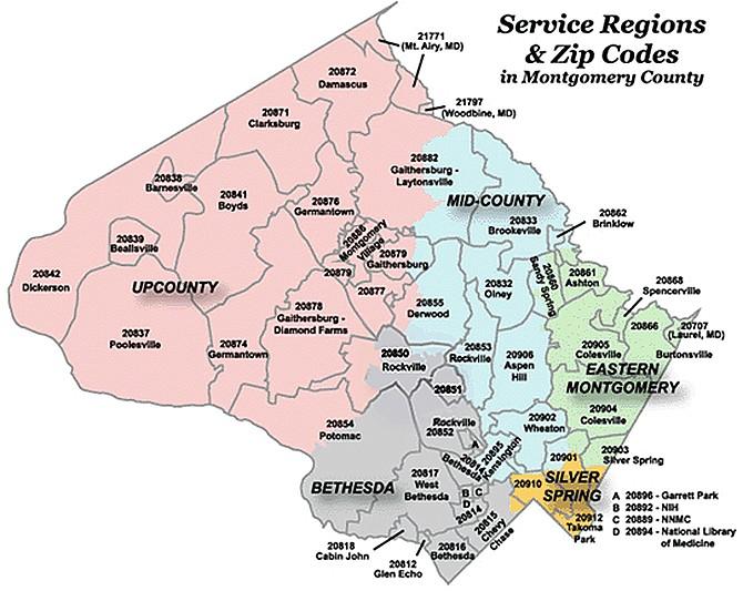 Service Regions map