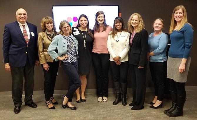 Dementia Friendly America – Herndon Chapter Action Team (from left): Paul Nasto, Matrona Busch, Toni Reinhart, Nicole McMonigle Knight, Laura Smothers-Chu, Tracy McClaren, Cheryl Rodakowski, Christi Clark and Robin McGlothin.