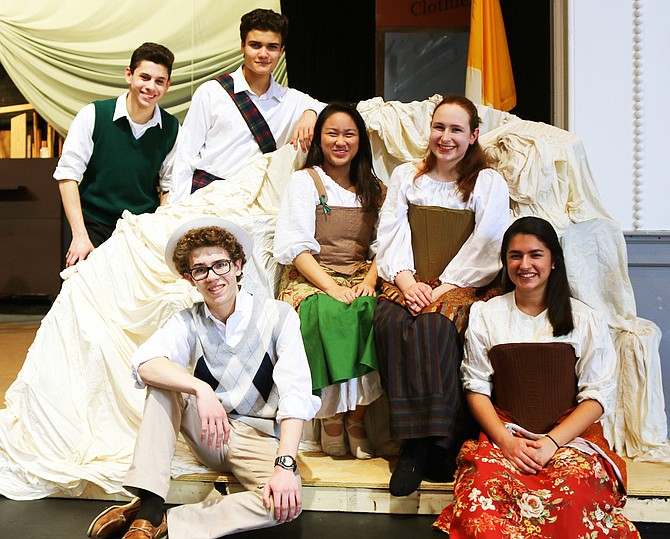 "Playing the leads in Paul VI's ""Brigadoon"" are (bottom row, from left) Jak Ketron and Caitlin Fernandez; (second row, from left) Maddie Mangilit and Emma Hitchcock; and (back row, from left) Nick Burgos and Nick Herrera."