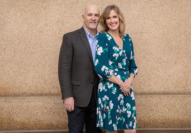 John Glennon and Amy Biter.