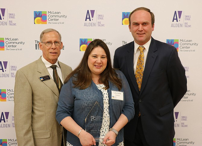 MCC Executive Director George Sachs, 2018 H. Gordon Randall Outstanding Volunteer Service Awardee Laurelie Wallace and MCC Governing Board Chair Paul Kohlenberger.