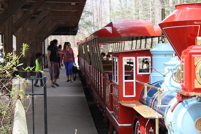 The train at Burke Lake is a big attraction to many.