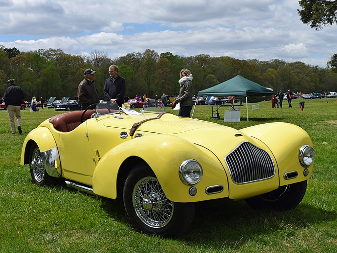2018 Britain on the Green best of show winner, a 1954 Allard K2 owned by Robert Morris of Great Falls.